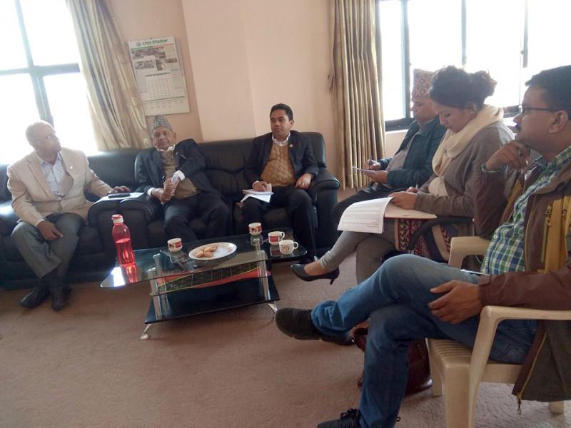 संशाेधनका लागि प्रस्तावित 'नेपाल मिडिया काउन्सिल विधेयक, २०७५' का दफामा छलफल